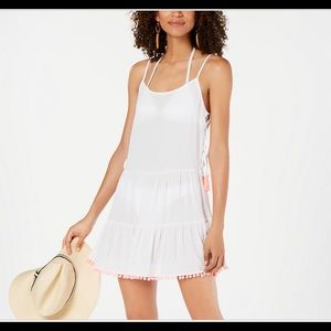 Tassel trim cover up dress size large NWT